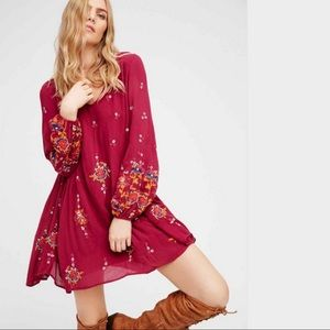 FREE PEOPLE Oxford Embroidery Minidress NWT